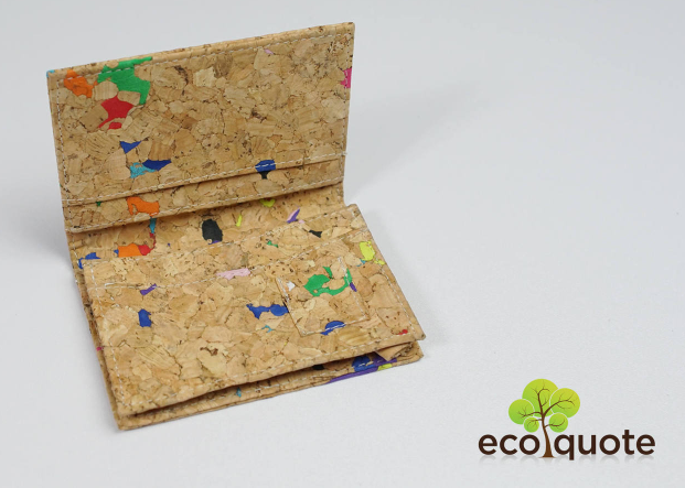 EcoQuote Eco Friendly Cards Holder Handmade Cork Eco Friendly Material For Vegan