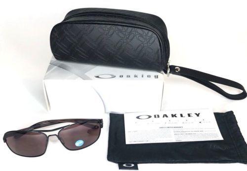 fc80603bfe4 Oakley Women s Sunglasses Sanctuary OO4116-06 Satin Black w  Oo Grey  Polarized