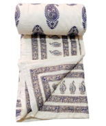 White Handmade Quilt For Sale King Size 100 Percent Cotton Bedspread For Winter - $120.00