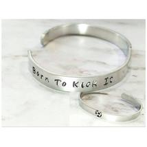 Soccer Bracelet, Team Bracelet, Silver Cuff Bracelet, Statement Bracelet... - $10.25