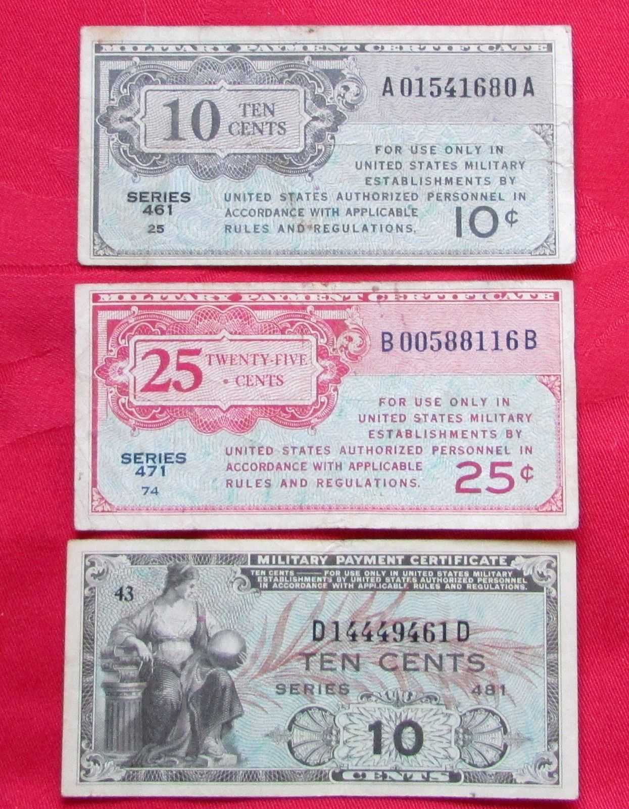 Military Payment Certificate Series 461 10 And 50 Similar Items