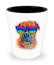 Boxer Shot Glass Neon Dog Sunglasses - Perfect Gift for Valentine's Day,... - $10.84
