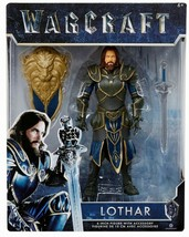 Warcraft Movie Action Figure LOTHAR 6-inch Jakks NEW IN BOX 2016 World of - $6.83