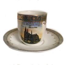 Porcelain China Tea Cup Saucer Teacup Vintage Souvenir Dom Zu Koln Rl458 - $24.74