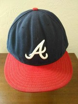 Atlanta Braves New Era Cool Base On Field hat cap fitted 7 5/8  - $14.80