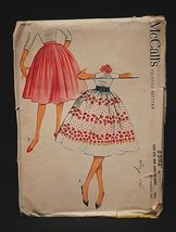 Old Vintage 1959 McCall's Sewing Pattern 5296 Teen Size Subteen Skirt Wa... - $6.92