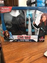 New Marvel Civil War Captain America Black Widow Dress Up Set Costume Jumpsuit - $31.66