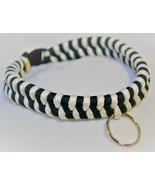 "Paracord 550 Dog Collar Dark Green & White Fish Tail Design 12 1/2"" Blac... - $15.00"