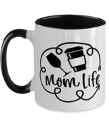 Mother's Day Gift- Mom Life - Two Tone 11 oz Coffee Mug -Funny Sweet Spe... - £16.39 GBP