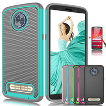 For Motorola Moto Z3 / Z3 Play Shockproof Phone Case Cover with Screen P... - $17.80
