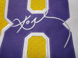 KOBE BRYANT / NBA HALL OF FAME / AUTOGRAPHED L.A. LAKERS THROWBACK JERSEY / COA image 4