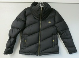 Womens adidas Down Puffer Jacket Black Full Zip Size Small S  - $59.39