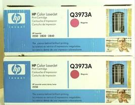 HP Color Laserjet Q3973A Magenta Printer Cartridge Lot of 2 - $60.00