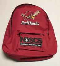 Fargo Moorhead RedHawks Backpack Minor League Baseball Promo NDSCS Wahpe... - $16.82