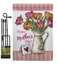 Mother Day Bouquet - Impressions Decorative Metal Garden Pole Flag Set GS115148- - $29.97