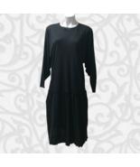 NEW Janell Texas Drop Waist LS Lagenlook Scandi Maxi Dress One Size XL 1... - $79.00