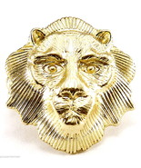 Lion Face Ring New Style With Stretch Band - $16.33