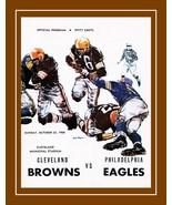 Vintage 1960 Cleveland Browns Football Poster NFL Program Wall Art Gift  - $19.99+