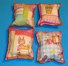 Cat Catnip Pillow Toy - Hand Made Jellybean Bunny Patterns Rectangle - 4 ea - $5.50