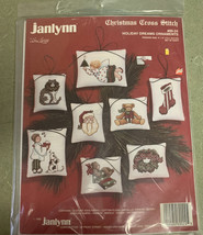 Janlynn Christmas Counted Cross Stitch Kit #89-24  Holiday Dreams Orname... - $14.80