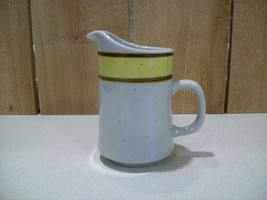 "Vintage Sango Rainbow Stoneware Citron #659 Creamer 4 3/4"" Tall Made in ... - $14.85"