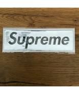 SUPREME NYC Sticker Box Logo PLASTIC FW17 SILVER BLACK - $54.45