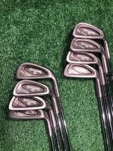 Spalding Pro Flite 3, 4, 5, 6, 7, 8, 9, P Iron Set Medium Steel, Right h... - $79.99