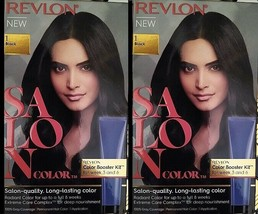 2 Boxes Revlon Salon Color Permanent Dye Color Booster Kit #1 Black - FREE SHIP! - $19.95