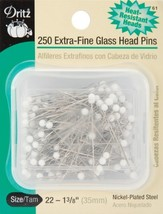 Dritz 1-3/8-Inch Extra Fine Glass Head Pins, 250 Count - $11.07