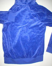 New Womens M Juicy Couture Velour Hoodie Purple Jacket Pretty M Bright Relaxed image 4
