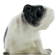 Hagen Renaker Pedigree Dog Bulldog Black and White Ceramic Figurine image 1