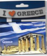 Greece Temple of Olympian Zeus & Parthenon Souvenir Fridge Magnet 9.5cm ... - $10.77