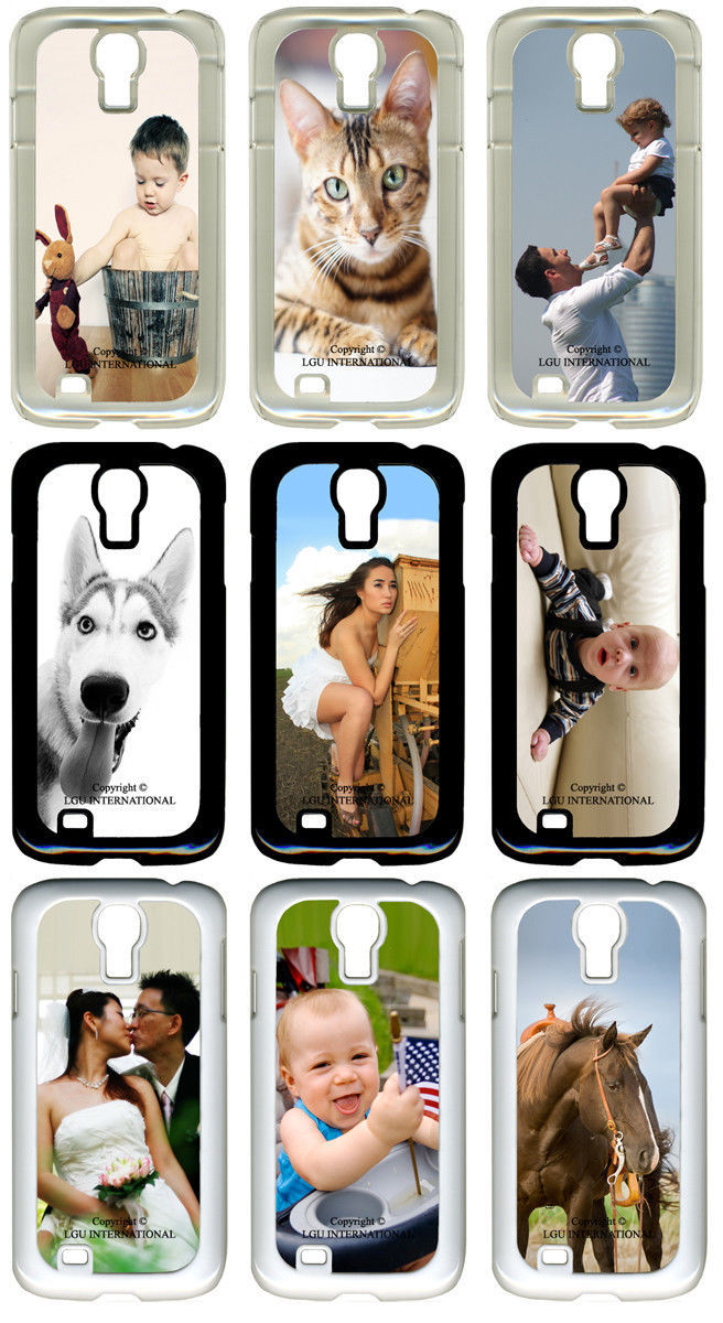 Personalized Photo Samsung Galaxy S4 Custom Picture on Hard / Rubber Case Cover - $15.95