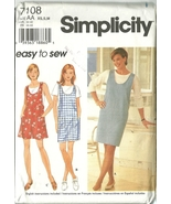 Simplicity Sewing Pattern 7108 Misses Womens Jumper Romper Size XS S M New - $9.99