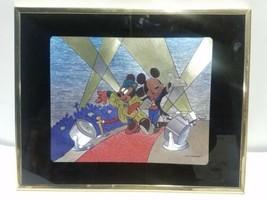 "MICKEY & MINI MOUSE FAMOUS RED CARPET WALK ART PRINT GOLD FRAME 14""X11"" ... - $29.39"