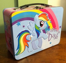 MY LITTLE PONY -- Rainbow Dash --  Large Tin Lunch Box Tote - $7.92