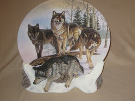 WOLF collector plate LORDS OF THE TUNDRA Al Agnew HAMILTON 3-D - $19.99