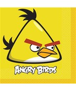 Angry Birds Movie Lunch Dinner Napkins 16 Per Package Party Supplies NEW - $4.90