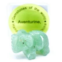 Aventurine Quartz Gemstone Tiny Miniature Elephant Figurine Hand Carved in China image 1