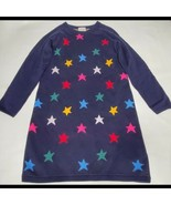 Hanna Andersson Navy Star Sweater Dress US Size 10 Long Sleeve 140cm - $49.49