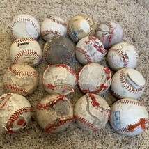 Lot of 16 Batting Practice League Baseballs with Defects FREE SHIPPING - $34.95