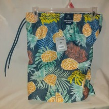 "George Men's Swim Board Shorts - Jungle Pineapple Small Trunks 28-30 6""I... - $8.80"