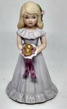 Vintage Growing Up Birthday Girls Blonde Age 8 Enesco 1981 No Box - $12.86