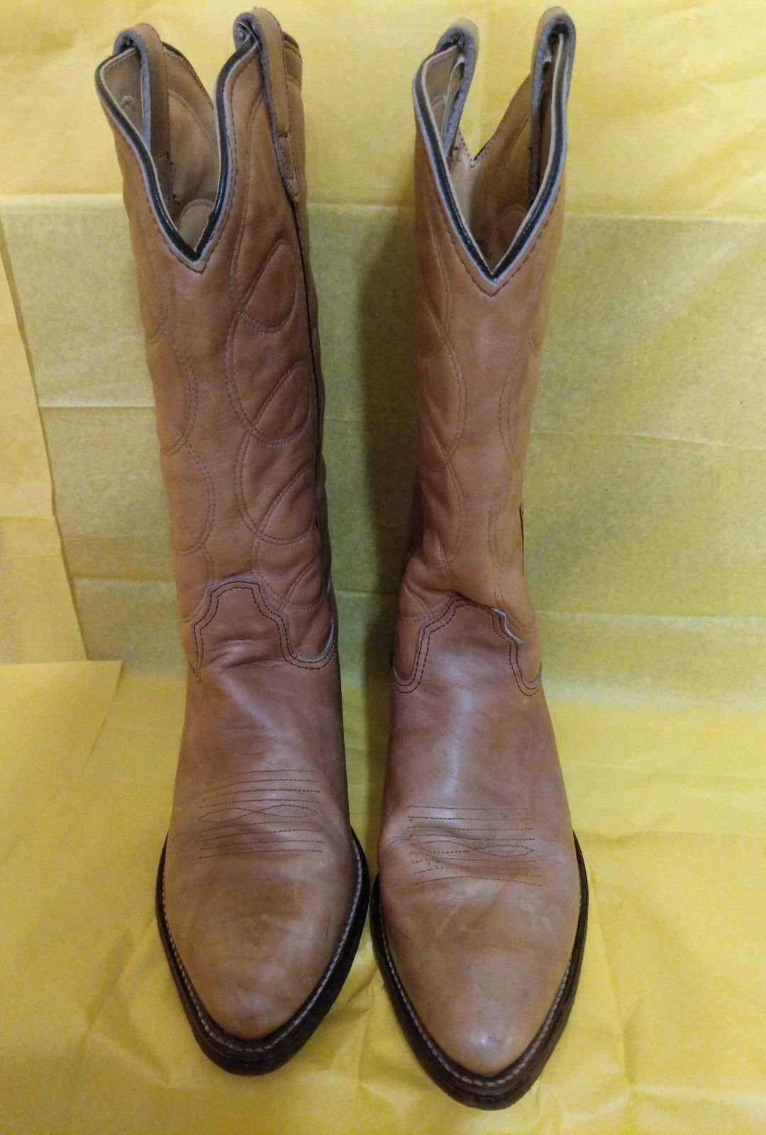 97a6a552110 Ladies H & H Lght Brown Leather Cowboy Boots and 50 similar items