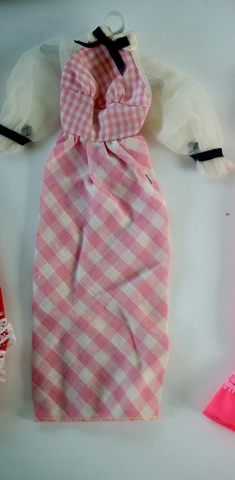Mattel Barbie Quick Curl 1973 Pink White Gingham Dress #4220