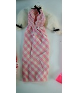 Mattel Barbie Quick Curl 1973 Pink White Gingham Dress #4220 - $9.41