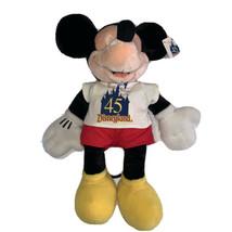 Disney Disneyland 45th Anniversary 45 Years of Magic Plush Mickey Mouse EUC - $18.71