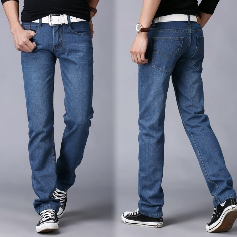 Men's fashion classic wash jeans image 2