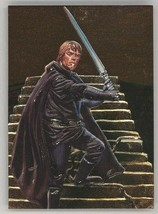 1996 Topps Star Wars Finest Chase Card F2 Jedi Luke Skywalker Dan Brere... - $5.93