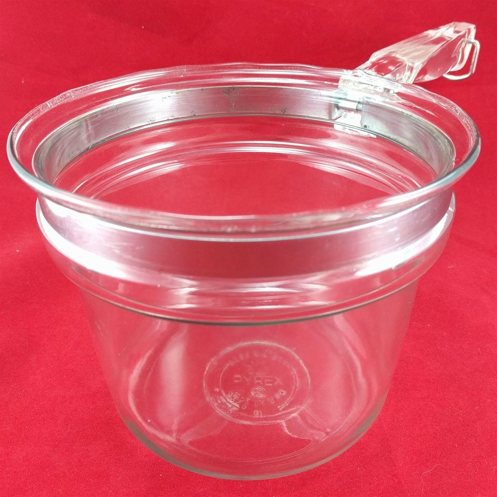 Pyrex Flameware 6283U 1½ qt Vintage Glass Saucepan w/ Stainless Steel Band image 4